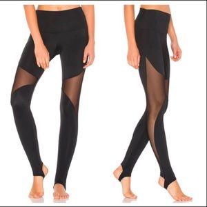 Onzie High rise mesh stirrup leggings